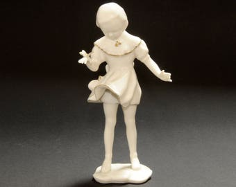 HUTSCHENREUTHER Art Department · Hans 80 's · Porcelain Figurine · Girl with Butterfly