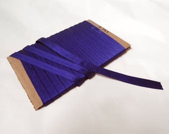 """5 yds Royal Blue Violet 1/2"""" wide trim 12.5 mm wide great for straps, boning casing, seam decor, trimming, striping and more - non-stretch"""
