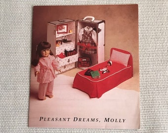 American Girl Pleasant Company Vintage Borderless Pamphlet ... Pleasant Dreams, Molly ... Rare Item for the Serious Collector