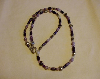 Amethyst sweetheart necklace