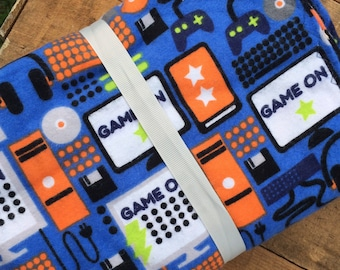 Video games flannel blanket. Ready to ship.