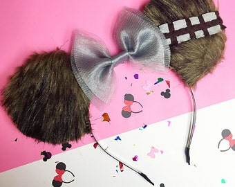 Star Wars Chewbacca Themed Disney Minnie Mouse Ears
