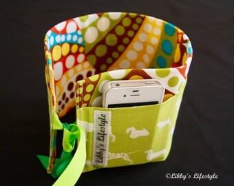 Dogs Purse insert - Handbag organiser insert - Dog Lover's Purse organiser insert - Handmade Bag insert - Bag organiser pockets.
