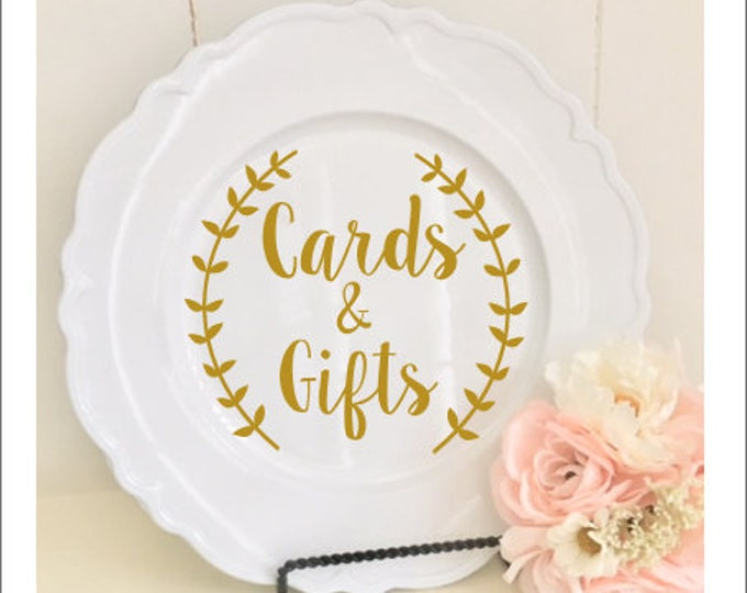 Cards and Gifts Decal Wedding Vinyl Small Decal for Cards Box Rustic Wedding Decal Farmhouse Style Barn Wedding Gift Table Wedding Sign