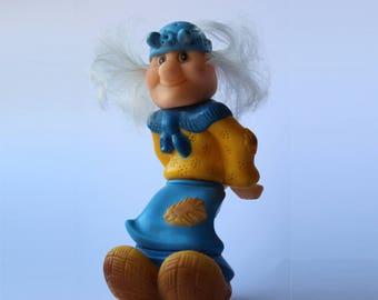 Soviet Rubber Baba Yaga. witch. sorceress. wise woman. hag. hex. Soviet witch. Soviet Toy. Vintage Toy. Soviet. Soviet Rubber.