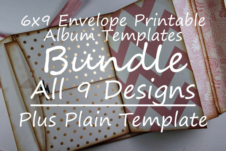 BUNDLE 6x9 Printable Envelope Templates 9 Original PATTERNS