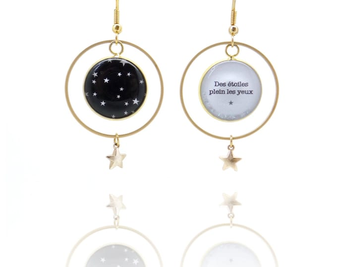 The airline AR6 (stars) resin earrings