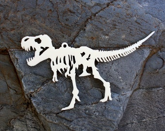 Acrylic T-Rex Dinosaur Skeleton Christmas Ornament