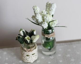 Dolls House Miniature Flowers in Vase