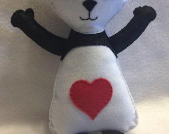 Felt Panda Doll