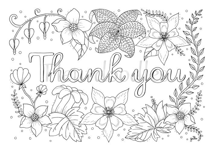 thank you cards coloring pages