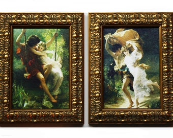 Pierre Auguste Cot, Reproductions Art, Framed 5 x 7 Art, Ornate Gold Framed Art, The Storm Pierre Auguste Cot, Spring, Home Decor, Wall Art
