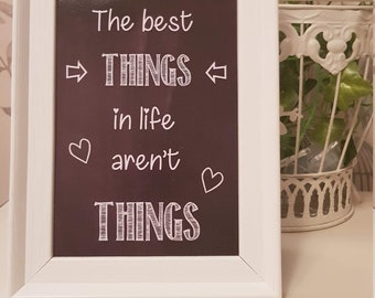 Chalkboard Style Quote Print