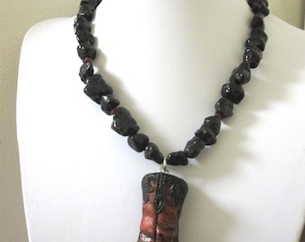Western Jewelry Cowboy Boot Necklace
