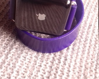 Leather double tour Apple watch strap,Apple watch strap. Apple watch band,handmade