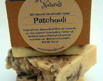 Patchouli soap, all natural soap, patchouli natural soap, handmade soap, soap gift, mothers day gift, men's soap, essential oil soap