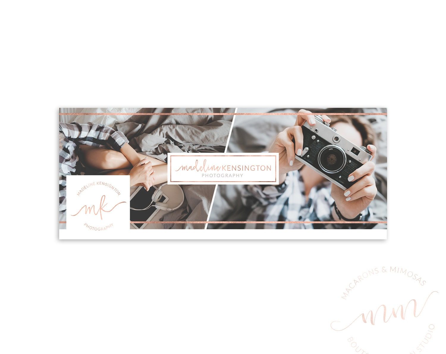 SALE Facebook Timeline Photography Template Blog Header Rose