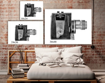 LARGE WALL DECOR   Black And White Art   Retro Style   Hipster Room Ideas