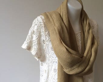 Linen Scarf Naturally Dyed