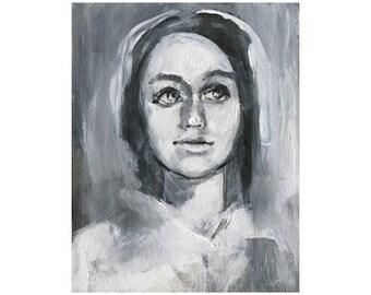 Figure Painting Art Print, Ghostly Painting Wall Art, thepaintedgrove