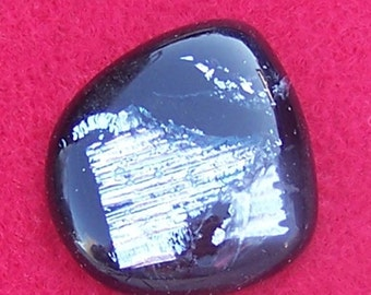Dichroic Glass Cabochon - Handmade Silver & Black by JewelryArtistry – DC240