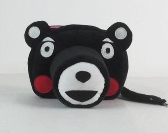 Kumamon DSLR camera bag Custom name digital camera backpack carry On Bag Kumamon DSLR camera case SLR camera bag