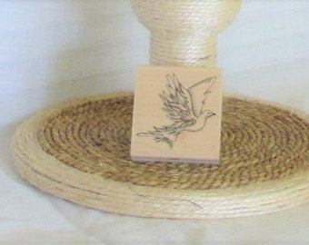 "Rubber Stamp, Dove, ""On the Wings of"", White Dove, Bird, Stampington & Co., destash"