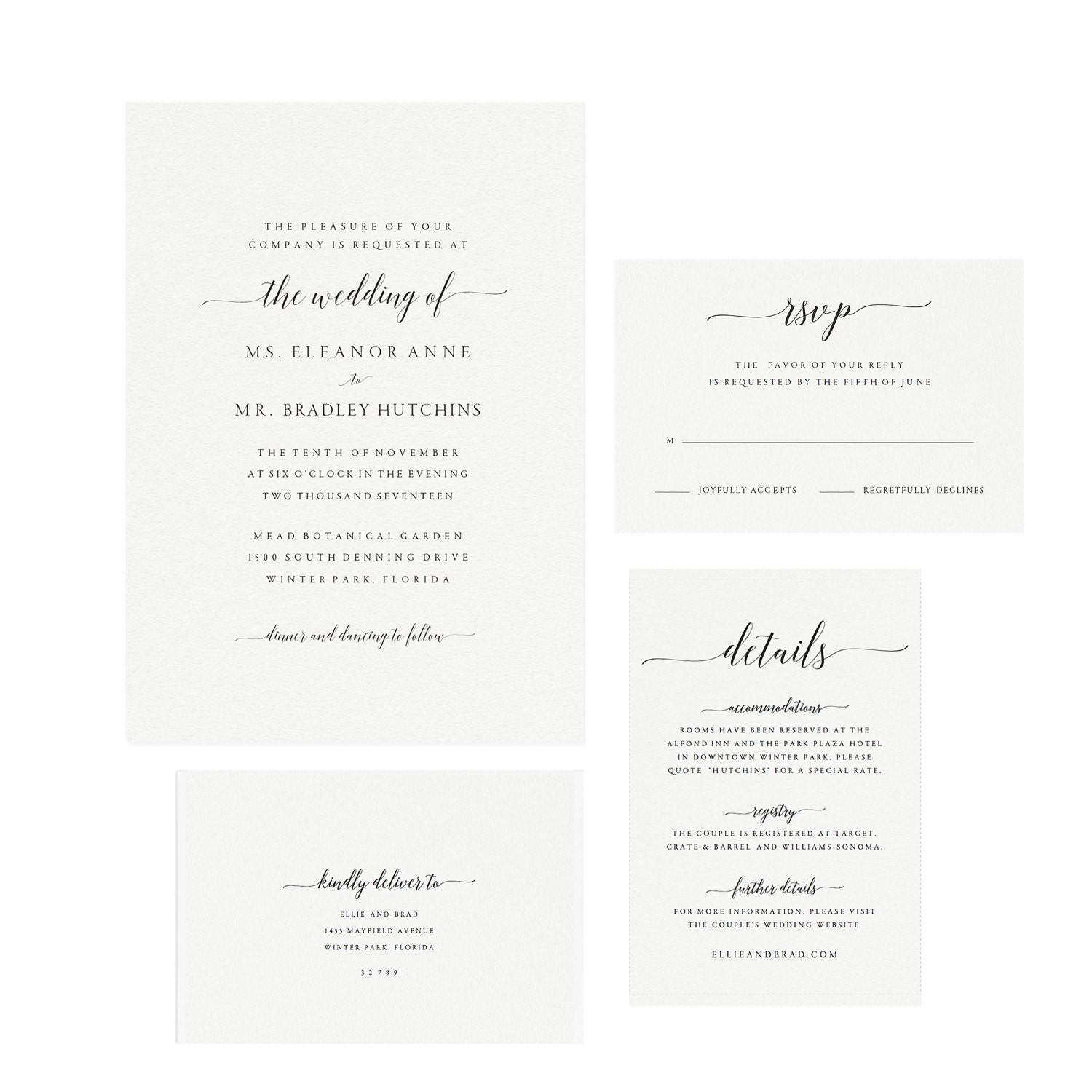 Adel: Instant Printable Wedding Invitation Template