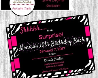 PRINTABLE-Surprise Party Invitation