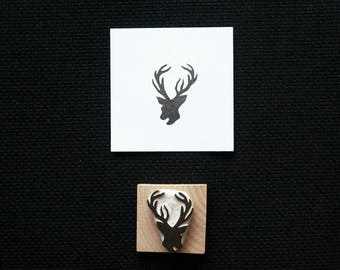 Deer Silhouette - Small - Hand Carved Stamp