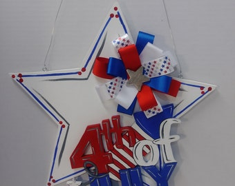 4th of July Wooden Sign