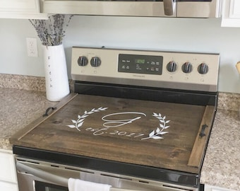 Stove Top Cover, Custom Wooden Stove Cover Personalized, Stove Cover, Wooden Tray For Stove Top, Stove Cover Tray, Wood Stove Tray, Custom