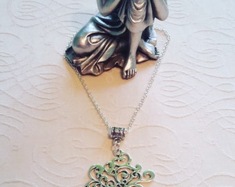 Tree of Life with a charm and Swarovski crystal