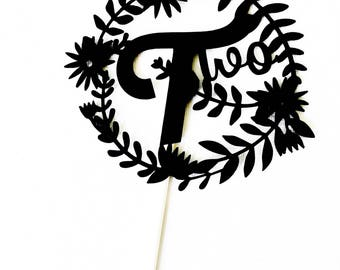 Whimsical Two Cake Topper // Wild One Cake Topper