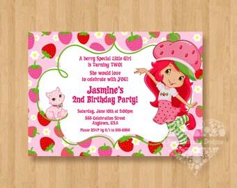Strawberry shortcake invitation etsy search results favorite favorited add to added strawberry shortcake birthday party personalized invitation filmwisefo
