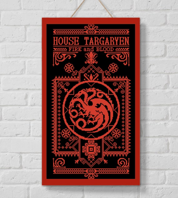 BOGO SALE Cross Stitch Pattern House Targaryen Cross Stitch
