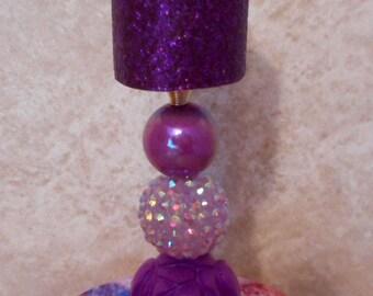 Barbie Purple Rose Lamp
