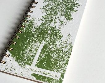 TreeLine ListBook -- (4.25 x 11 inches) Side-Bound Notebook
