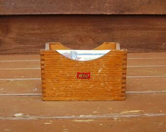 Wood Recipe Box, Weis Storage Box, Vintage Wooden File Box, Weis Recipe Box, Card File Box, Vintage Kitchen