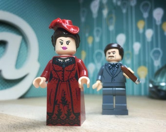 Gone With the Wind Lego® Classic Film Movie Lego Minifigure Scarlet O'Hara Rhett Butler Margaret Mitchell Movie Quotes Custom Lego Minifig