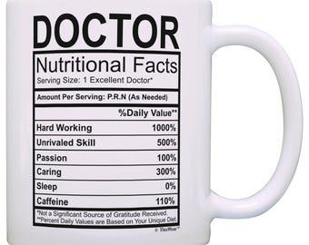 Funny Gift for Doctor Nutrition Label Mug - M11-3319