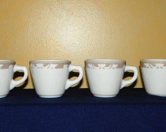 Syracuse China Restaurant Ware Nutmeg Coffee Mugs, Set of 4, Heavy Duty Cups to Keep Your Coffee Hot Longer