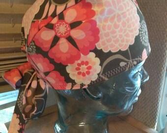 Reversible floral medical cap