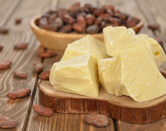 Fair Trade Cocoa Butter FREE SHIPPING 2,4,6,8,12,16 oz 2,3,4,5,7.5,10,15,20,25,35,55 lb