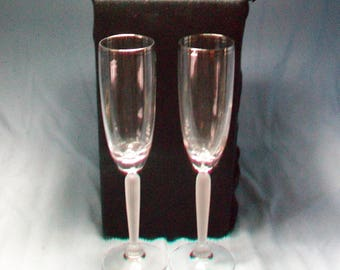 Lenox USA Crystal Champagne Flutes