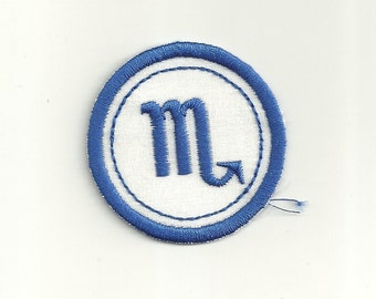 Zodiac Scorpio Merit Badge, Patch! Any Color Combo, Custom Made!
