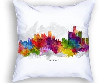 Detroit Pillow, 18x18, Detroit Cushion, Detroit Skyline, Detroit Pillow, Throw Pillow, Cushion, Home Decor, Gift Idea, Pillow Case 13