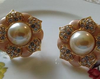 Joan Rivers:  Floral Clip on Earrings