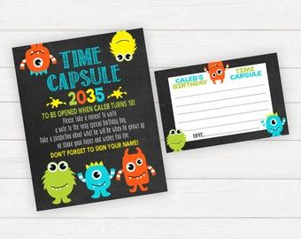 Monster Birthday Party Monster Birthday Invitation Monster Party Monster Time Capsule Birthday Time Capsule Little Monster Birthday Party