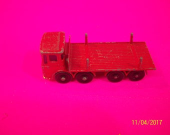Vintage Matchbox Pipe Truck No 10 Red Truck Ergonomic Cab 1/64 Scale Loose Diecast Made In England Lots of Imperfections Restore Job